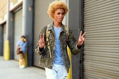 http://chicerman.com  billy-george:  Model Michael Lockley  Marcy Swingle for The New York Times  #streetstyleformen
