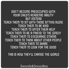 Teach your kids kindness