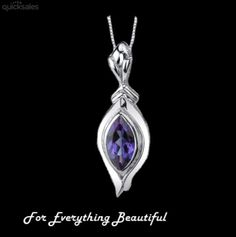 Alexandrite Marquis Cut Sterling Silver Pendant by JB7339 - $68.97