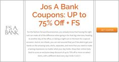 Jos A Bank Coupons: UP to 75% Off + FS Brought to you by http://www.imin.com and http://www.imin.com/store-coupons/jos-a-bank