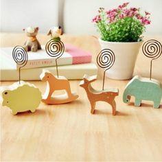 创意家居 可爱 简约木质动物留言夹 便签夹 照片夹 卡片座 8款选的图片