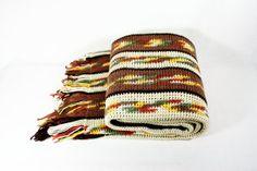 Vintage Hand Knitted Throw Afghan Etsy by vintagefindsetcetera, $24.00