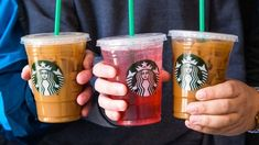 Starbucks Secret Menu Items and How to Order Them Update) I think we can all agree when I say. The Starbucks Secret Menu is one of the greatest things ever made. Ok, maybe not the greatest thing ever made, but. Low Calorie Starbucks Drinks, Starbucks Secret Menu Items, Healthy Starbucks Drinks, Starbucks Rewards, Starbucks Menu, Starbucks Hacks, Best Iced Coffee, Iced Coffee Drinks, Coffee Beans