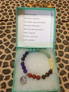 Chakra Bracelet, Meditation Bracelet, Spiritual Bracelet, OHM Charm | JewelrybyJAM - Jewelry on ArtFire