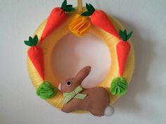 Wreath. Floreal easter bunny yarn  wreath.  Spring by MoCactus