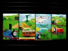 Train Light Switch Cover, Outlet Covers Thomas the Tank Engine and Friends