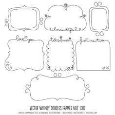 frame ideas-would be so cute to draw these on the matting of a very simple frame