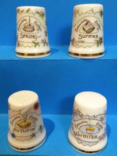 Colección Completa Four Seasons. Royal Doulton. Thimble-Dedal-Fingerhut.