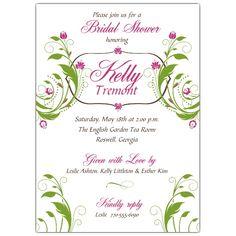 94c4b8c64588 Floral Bliss Bridal Shower Invitations