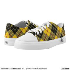 I'm in love with plaid sneakers right now... Scottish Clan MacLeod of Lewis Tartan Printed Shoes #plaid #kicks