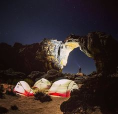 Hubba Hubba tent gathering under Wolfberg Arch, South Africa. 📷 @craigkolesky #msrgear #homeiswhereyoustakeit #camping #wildernessculture