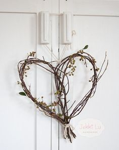 Heart Twig Wreath by JekkiLu on Etsy, Doesn't look too difficult, looks great on a door for Valentine's Day.