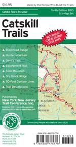 Printed in vibrant color on waterproof and tear-resistant Tyvek, this revised, digitally-produced six-map set features trails in and around the Catskill Park and is a must-have for anyone who wishes to explore the many trails and protected lands in the Catskill region.  This 2013 update includes a number of trail additions and other adjustments to the maps.