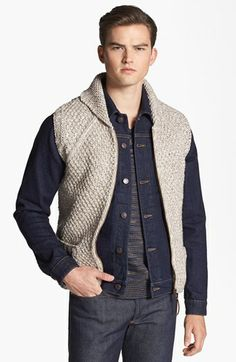 Missoni Hand Knit Wool Shawl Collar Zip Vest available at #Nordstrom