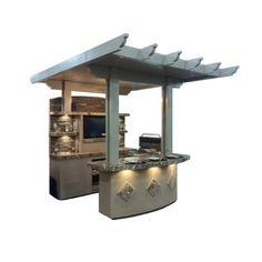 Kokomo Grills St Croix BBQ Island Outdoor Kitchen Built-In Convertible Gas Grill Natural Gas Bbq, Patio Store, Grill Island, Outdoor Kitchen Countertops, Built In Grill, Outdoor Kitchen Design, Outdoor Kitchens, Modern Kitchens, Outdoor Rooms