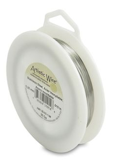 Artistic Wire, 30 Gauge (.26 mm), Stainless Steel, 1/4 lb (.11 kg), 787 ft (240 m)