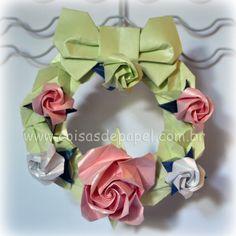 Guirlanda de Rosas de Origami