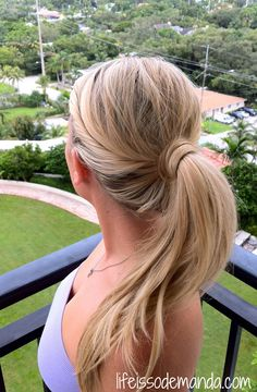 Twisted Ponytail - Hair Tutorial, no bobby pins! Cute easy updo