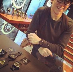 aww look at him with his cute glasses and smile