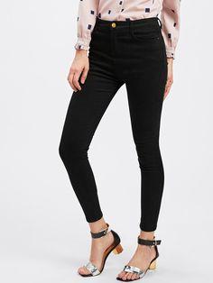 #ROMWE - #ROMWE Skinny Ankle Jeans - AdoreWe.com