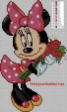 Dibujos Punto de Cruz Gratis: Minnie punto de cruz Cross Stitch: