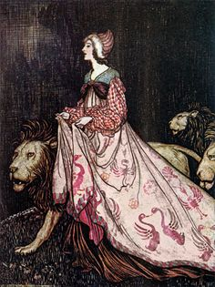 The Lady and the Lion  Arthur Rackham