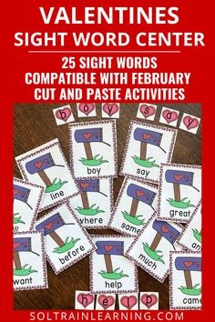 This Valentines Sight Word Center is a great way for your students to practice sight words and create their own words with the heart shaped letter manipulatives. #sightwords#valentinesactivities#elementarysightwords#soltrainlearning