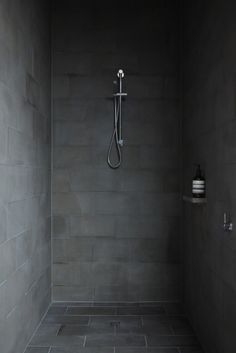 texture stone shower modern dark bathroom  Japanese Trash masculine design obsession inspiration