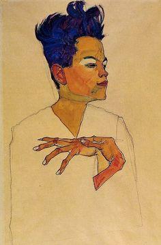Self Portrait, 1910 by Egon Schiele