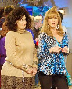 Monica and Rachel in college