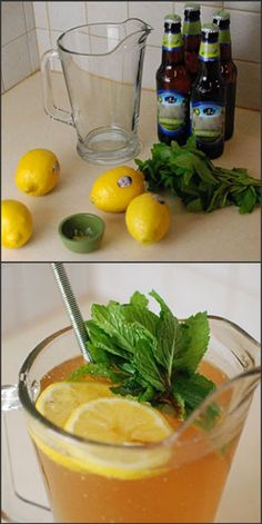 Spring Beer Cocktail-how to compromise and make me drink beer