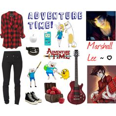 """Adventure Time: Marshall Lee"" by thenat1 on Polyvore featuring Cheap Monday, Converse, CellPowerCases, Nearly Natural, CB2 and Pendleton"