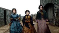 Anne, Charlotte and Emily Bronte as played by Charlie Murphy, Finn Atkins and Chloe Pirrie in the BBC's movie To Walk Invisible.