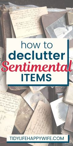 How To Win at Decluttering Sentimental Items - - Do you struggle when it comes to decluttering sentimental items? Try these proven strategies to help eliminate the excess and showcase the rest. Declutter Home, Declutter Your Life, Getting Rid Of Clutter, Getting Organized, Clutter Solutions, Clutter Control, Learning To Let Go, Life Organization, Organisation Ideas