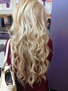 Gorgeous, long blonde curls.