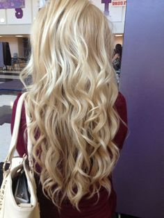 Achieve these beautiful long beauty ways with these affordable human hair clip ons! I have these and everyone thinks its my real hair! http://www.besthairbuy.com/cheap-wet-and-wavy-human-hair-8pcs-body-wavy-613-lightest-blonde-clip-in-100g.html