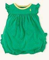 Ralph Lauren Layette, Baby Girls Logo Bubble Shortall