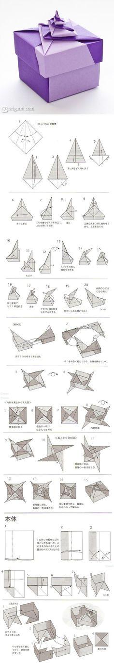 interlinked origami box