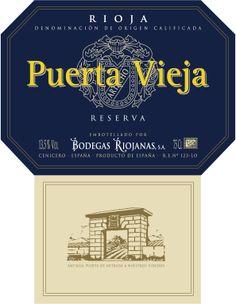 Puerta Vieja Reserva #Rioja #wine