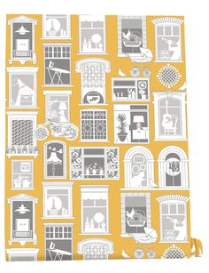 Mini Moderns rent an L-SHAPED ROOM, UP THE JUNCTION with GEORGY GIRL and find there's always ROOM AT THE TOPOne Day is the first wallpaper from our new Saturday Night/Sunday Morning collect...