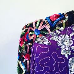 Shoulder pads and sequins. We're talking 80's baby!