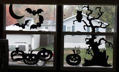 halloween window silhouette - Google Search