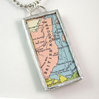 Belize Vintage Map Pendant