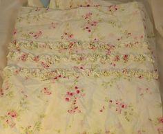 SIMPLY SHABBY CHIC Pinks Cottage Rose SHOWER CURTAIN w Ruffles Rachel Ashwell | eBay
