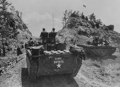 LVT Buffalo 96th infantry division Chatan Okinawa 1945