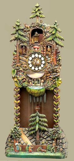 Awesome Handcarved Blackforest Tall Case Clock...... I would love to have this beautiful piece in my home. Photo via web.