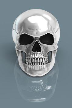 Skull rings. Sterling silver handmade skull ring.