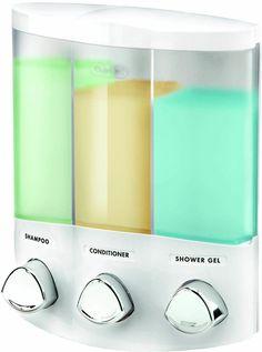 Euro Series AVIVA TRIO Bath Soap Shampoo & Conditioner Shower Bathroom Dispenser #Aviva