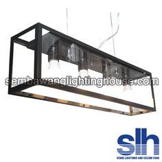 DL3995 - 4L Long Matt Black Fish Tank Dining Lamp - Sembawang Lighting House Pte Ltd