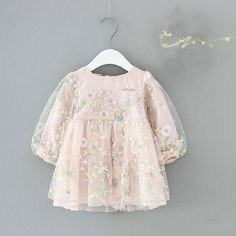 This Classy Girls Pink Embroidered Balloon Sleeved Frock can be a beautiful addition to your baby girl's wardrobe of party wear dresses. The fabric of the outfit is breathable and soft. Toddler Dress, Baby Dress, Toddler Girl, Baby Girls, Infant Girls, Ruffle Dress, Kids Girls, Fashion Kids, Baby Girl Fashion